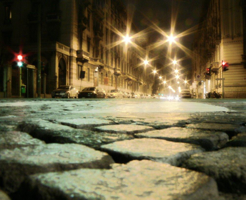 Milano di notte Centro Storico, Milano, Italia