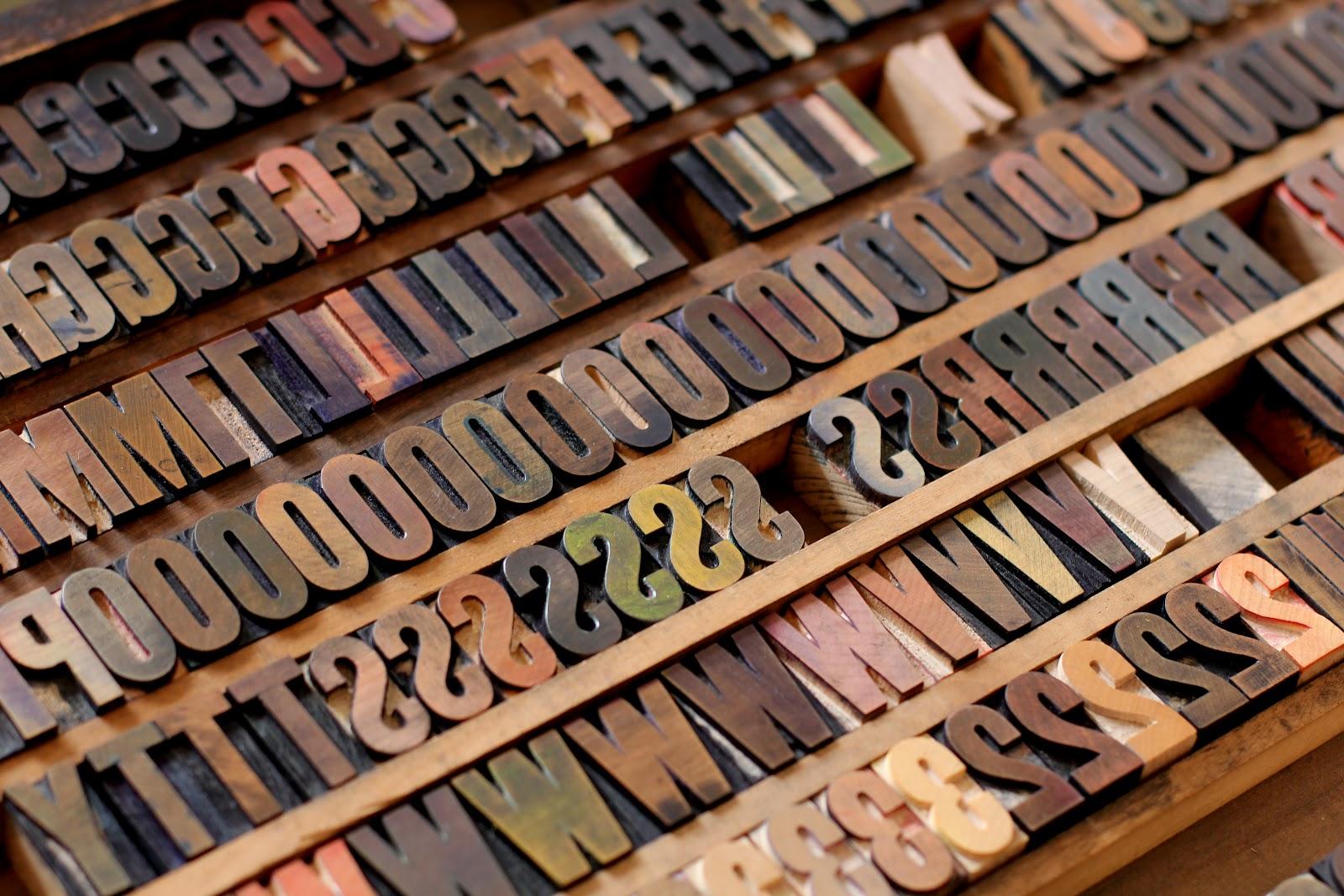 I caratteri tipografici