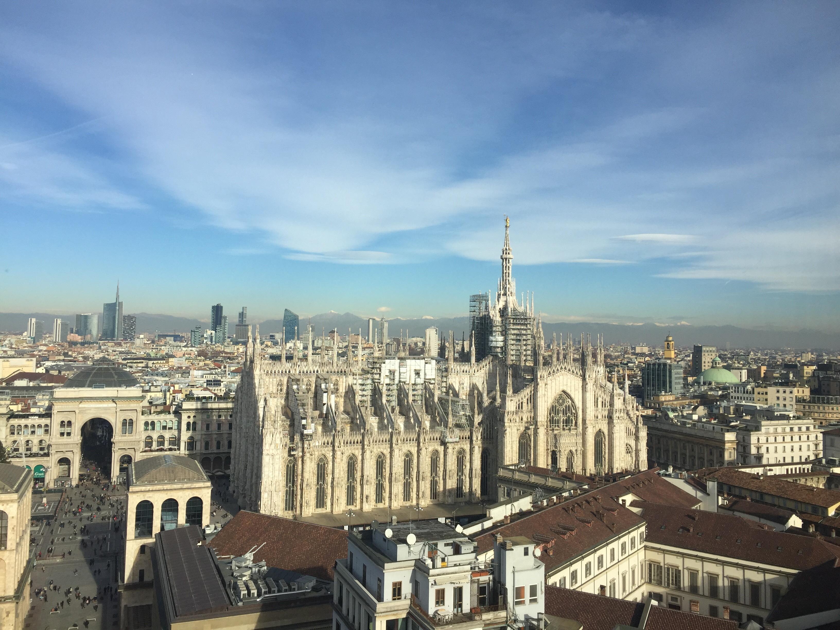 Vista dalla Terrazza Martini di Milano che ha ospitato la conferenza stampa di presentazione del festival