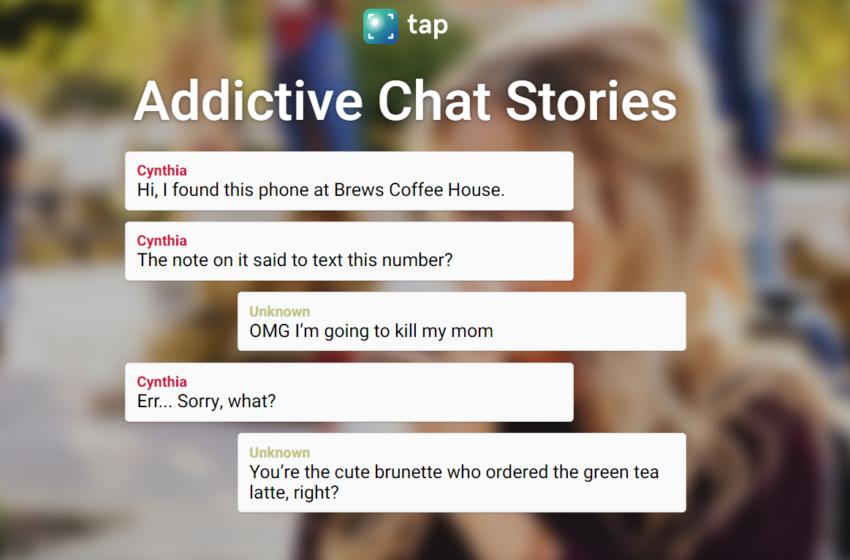 Tap: non una chat una storia che sembra una chat!