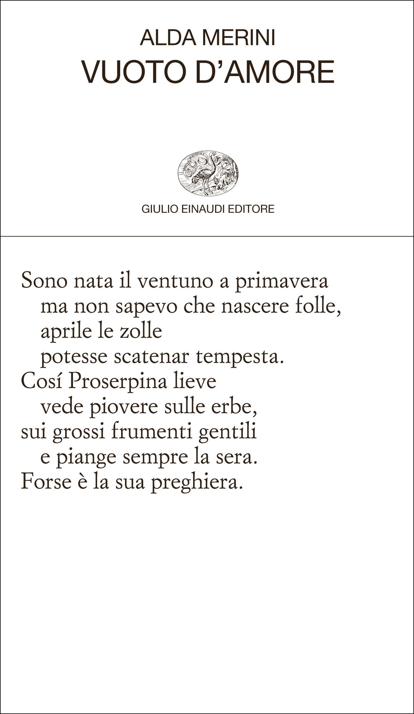 Alda Merini, Vuoto d'amore, Einaudi