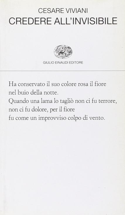 Cesare Viviani - Credere all'invisibile – Einaudi