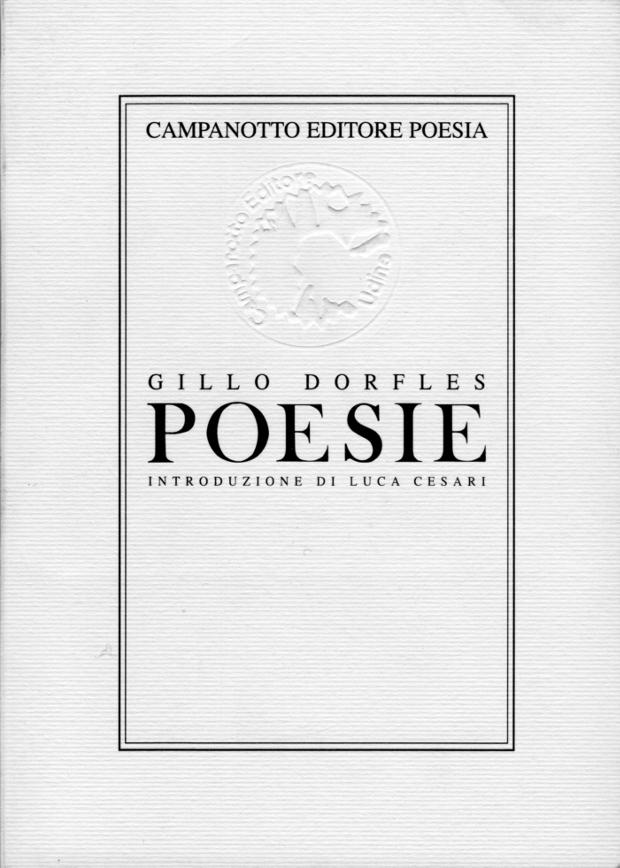 Gillo Dorfles Poesie Campanotto