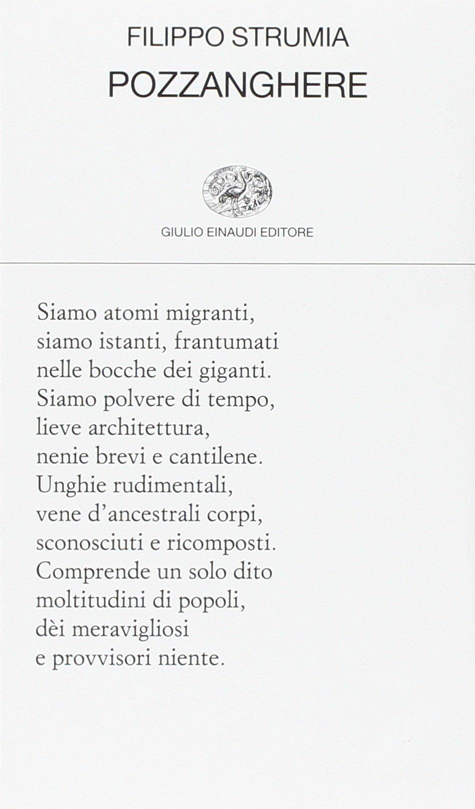 Filippo Strumia Pozzanghere Einaudi