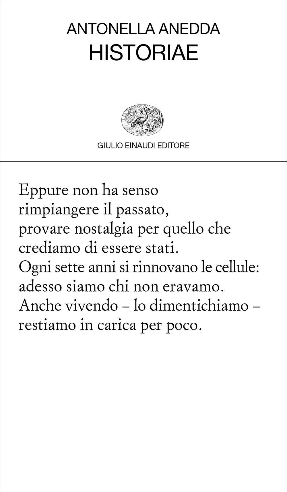 Antonella Anedda – Historiae – Einaudi